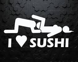 I Love Sushi Sticker Etsy