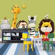 Shop Custom Mural Wallpaper Children S Room Bedroom Cartoon Theme Animals Painted Background Pictures Wall Decor Kids Wallpaper Roll Online From Best Wall Stickers Murals On Jd Com Global Site Joybuy Com