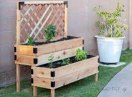 diy tiered raised garden bed full