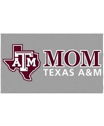 Texas A M Aggie Mom Lonestar Decal Maroon The Warehouse At C C Creations