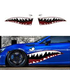 59 Flying Tiger Shark Jaws Mouth Die Cut Vinyl Warplane Style Car Sticker Decal Ebay