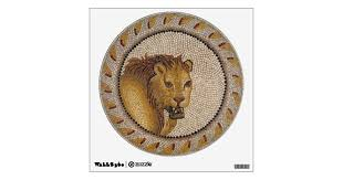 Roman Lion Mosaic Wall Decal Zazzle Com