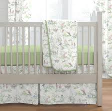 nursery rhyme toile sage 3 piece crib