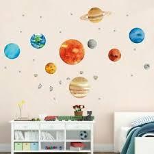 Solar System Wall Sticker Vinyl Decal Wallpaper Kids Room Decoration Planets 796366112074 Ebay