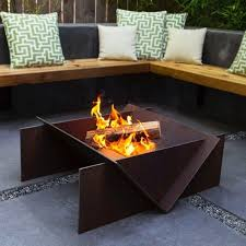 fire pit table hammered copper