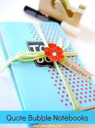 quote bubble notebooks l easy diy gift l