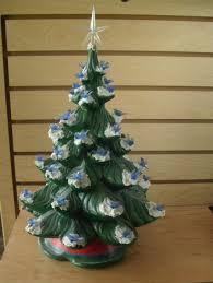 Ceramic Christmas Tree With Bird Lights Ceramic Christmas Tree Green With Blue Bird Lights Red And