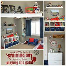 His mom and dad did such a great job decorating the baseball themed room  with accents of red, white, and blue. It's the perfect room for a baseball  loving ...