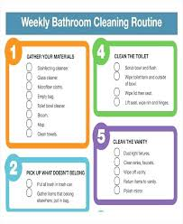 Household Cleaning Chore Chart Bathroom Cleaning Schedule For Roommates Nguyensan Me