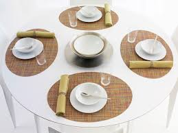 mini basketweave oval placemats in confetti