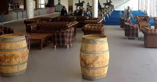home outdoor barrel poseur table