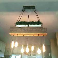 wood beam light recessed wood beam chandelier 5