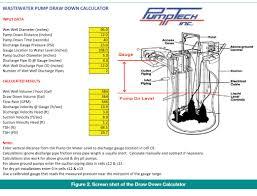 Lift Station Pump Design Wastewater Pump Draw Down Calculator