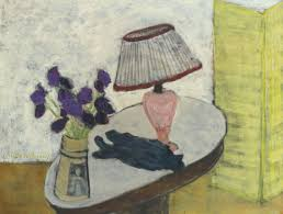 Milton Avery - Flowers and Lamp, 1942
