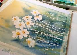watercolor daisy painting