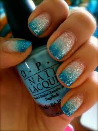 blue gradation nail art! ignore cuticles…. | My Style | Pinterest ...