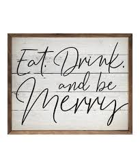 eat drink and be merry framed wall art
