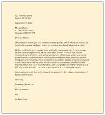 Business Memorandum Letter Business Writing In Action