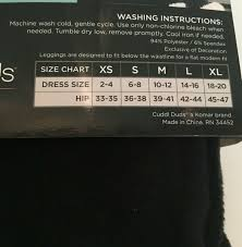 Cuddl Duds Womens Stretch Fleece Leggings Size Xl