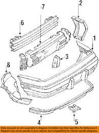 Image is loading pontiac gm oem grand prix rear bumper impact