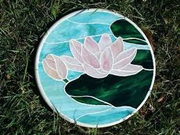 als garden art. Al Garden Art Lily Pad Stone By Princess Stained Glass Workshop Als Wall .