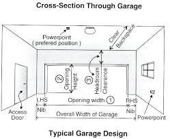 garage door sizes standard double garage door sizes australia