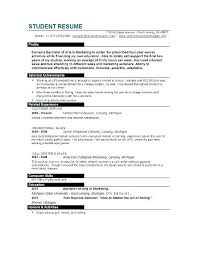 Sample Recent Graduate Resume College Student Accurate College