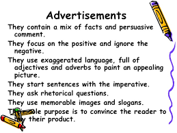 persuasive adverts key 13