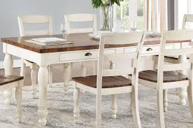 Britta Walnut And White Washed Dining Room Set 1stopbedrooms