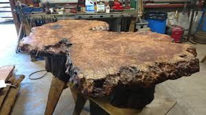 Image Wood Furniture Example Of Live Edge Slab Used For Coffee Table Or Other Live Edge Tables Redwood Burl Blog Page Of 31 Redwood Burl Inc