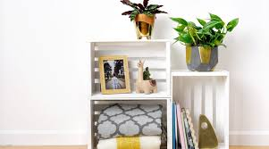 make your own stunning wooden crate plant stand