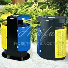garbage cans recycling plastic wood trash can dustbin