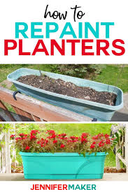 how to spray paint plastic planters