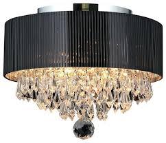 drum shade crystal chandelier 3 light crystal flush mount ceiling light with black drum for brilliant drum shade crystal chandelier