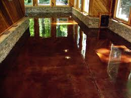 Painting Interior Concrete Floors Awesome How To Stain Concrete Indoors Ideas Interior Design