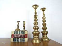 candlesticks bulk pair of tall brass vintage decorative mantle fireplace candle holders inch size white votive candles