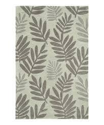 green palm fronds fashion rug