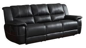 black leather reclining sofa. Beautiful Reclining Amazoncom Homelegance Bonded Leather Black Double Reclining Sofa Kitchen  U0026 Dining Inside Sofa R