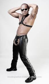 Leather motorcycle chaps and gay