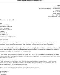 Project Coordinator Cover Letter Example Letter Of Recommendation