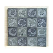 Etched Tile Designs Amazon Com Etched Slate Accent Tile Leaves Handmade