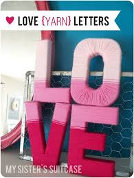 yarn wrapped decoration letters