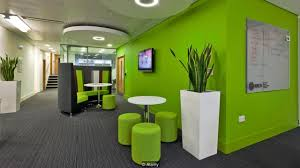 green office interior. Office Interiors: HOK\u0027s Kay Sargent Talks To BBC About Design That Promotes Workplace Creativity Via @sunjayjk Greens N Blues Best Colors, Red\u0027s Among Worst Green Interior G