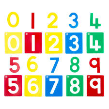 Educational Colours Number Stencils