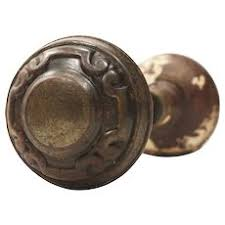 Image Cast Iron Door Antique Doorknob Sets Early 1900s Ruby Lane Vintage Doorknobs Handles Ruby Lane