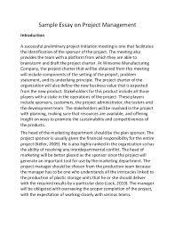 College Essays On Leadership Mba Leadership Essay Sample Edited Essays