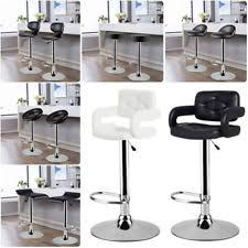 kitchen high chairs. High Bar Chair 2pcs Breakfast Stool Swivel Kitchen Padded Seat Leather +Gas Lift Chairs G