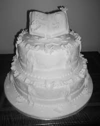 White Traditional Christening Cake Cakecentralcom