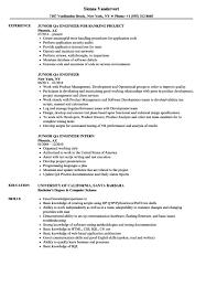 Test Engineer Resume Objective Qa Automation Engineer Resume Sample Junior Qa Engineer Resume