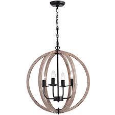 benita natural wood 4 light orb chandelier fd 3566 xne